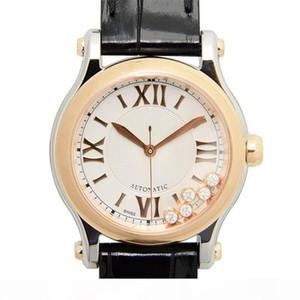 diseñador relojes reloj de lujo Happy Sports serie diamante movimiento de cuarzo reloj montre de luxe moda señora relojes de pulsera correa de cuero
