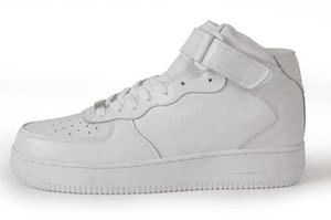 2020 hot sell MID HIGH All black,All White Shoes Men's & Women's Lover Sport air Skate Sneaker