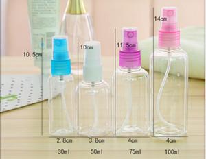30ml, 50ml, 75ml, 100ml Mini Şeffaf Parfüm Alt şişe İnce Mist Nemlendirici Kozmetik Şişe Seyahat Taşınabilir Portatif Plastik Küçük Bo Spray