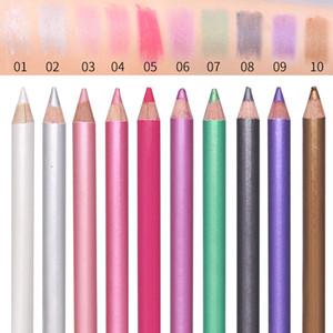 10 ألوان مزدوجة رئيس لؤلؤة ضوء ظلال العيون القلم للماء ملون عينيه مضيئة القلم العين مستحضرات التجميل أداة ماكياج