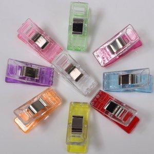 50pcs Yüksek Kalite Çok renkli Plastik Wonder Klipler Tutucu DIY Patchwork Kumaş Yorgancılık Craft Dikiş Örgü Suspender Klip