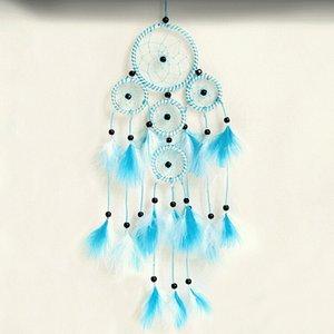 Feather Dream Catcher Con plumas de perlas de ratán Coche de pared Decoración colgante Ornamento Decorativos para el hogar Regalos Dreamcatcher