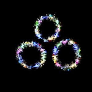 Десять огней украшения светящейся венок волос обруч голова невеста венок сеть игрушка знаменитости туристических достопримечательности горячие продавать фонарь флэш-венок