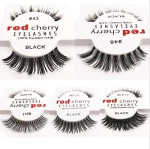12 أنماط RED CHERRY الرموش الصناعية وهمية رموش طويلة وحجم العين الرموش الشحن المجاني