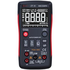 ZT-X press key type digital multimeter with analog bar, HD 3 display 9999 words