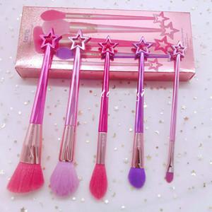 brand Makeup brushe 5 pcs set Mermaid brushs holder blusher brushs Eye shadow brush makeup brush tools Powder Contour brushes free shipping