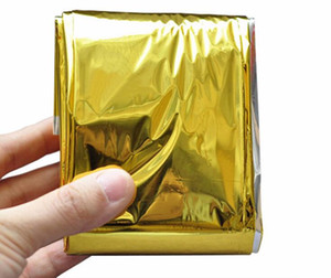 Outdoor Water Proof Emergency Survival Rescue Blanket Foil Thermal Space First Aid Sliver Rescue Curtain Military Blanket