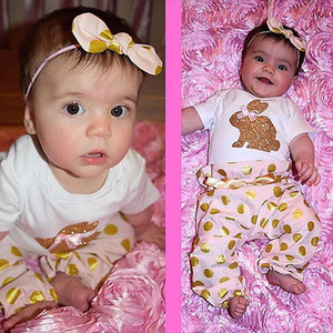 3pcs Newborn Toddler Kids Baby Girls Floral Tops Pants Trousers Outfits Set