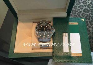Super N Fábrica V5 Movimento automático Black Watch cerâmica 43 milímetros moldura Sapphire vidro 126600 Mens Watch Relógios New caixa original estilo
