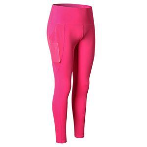 Women's fitness trousers mesh pockets yoga running training tight elastic quick-drying sports trousers High Elastic Leggings New