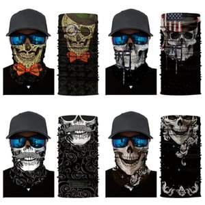 New Cosplay Ghost Skull Face Mask Cap Motorcycle Biker Multi Functional Skeleton Hat Skull Scarf Balaclava Hood Magic Cycling Headgear#782