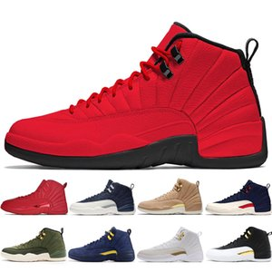 12 12s Gym red mens Basketball shoes Michigan International Flight College Navy Flu Game Taxi French Blue men sports sneakers