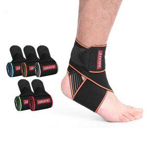 Безопасность лодыжки поддержка тренажерный зал бег защита открытый ноги бандаж эластичный лодыжки скобка группа гвардии дышащий протектор ноги LJJA3999
