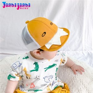 Baby-Sonnenhut Baby-Sommer-Sonnenschutz Baseballmütze Kleinkind Kind Cartoon-Monster-Strand Visor Sun Cap 0-1 Alt