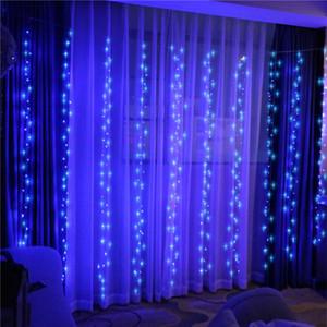cortina de luces LED luces de cadena boda de vacaciones de Navidad LED luces decorativas hada bombilla partido guirnalda cortinas decoración de jardín