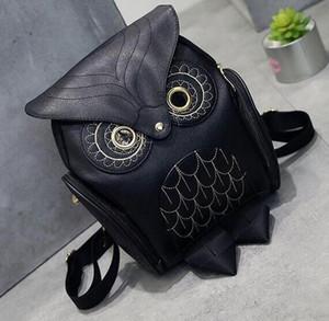 Más nueva manera Owl mujeres del morral de fiesta Mochilas bolso adolescente cremallera doble tela de Oxford Colleage bolsos de las señoras de viaje Mochila