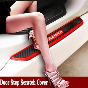 4pcs باب السيارة سيل مكافحة خدش جرجر دواسة الحرس تغطية ل رينو ميجان 2 المنفضة VW توران باسات B6 جولف 7 T4 فيات