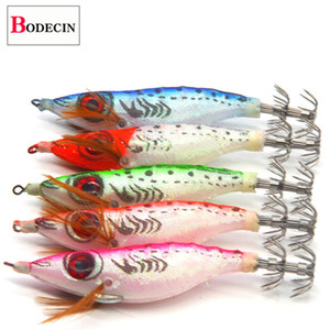 25PC Luminous Artificial Hard Bait Saltwater Squid Jig 3.0 Hook Body Shrimp Octopus Cuttlefish For Fishing Jigs Lure Sea Tackle T200602