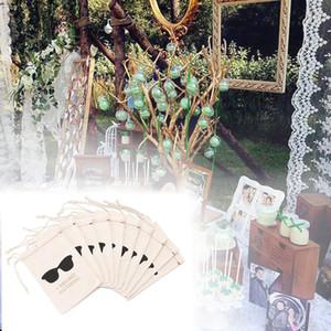 10pcs Bachelorette Sacs Kit Accueil Fournitures Hangover cadeau Sunglass I Regret Rien Bijoux de mariage Bonbons Pouches Drawstring