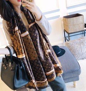Designer de seda quente lenço longo de Design Carta Mulheres Marca lenços xales Pashmina Verão Grande Hijab Cachecóis For Ladies 180x90cm T634