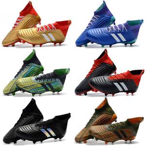 Hot Predator 18+ Predator 18.1 FG PP Paul Pogba soccer 18 + chaussures à crampons Chaussures de football Slip-On Bottes de football pour hommes