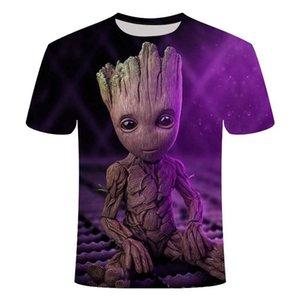 2020 Marvel Movie T-shirt Cute Style O-neck High Quality Short Sleeves T-shirt Galaxy Groot Streetwear Fashion Asian size S-6XL