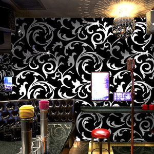 plafond haut mur papier peint d'ingénierie de qualité bar local hôtel de luxe waterproof salon d'or fond or mur feuille
