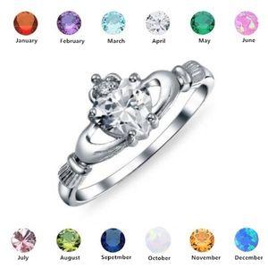 2020 anillo del amor del corazón con Trisquel de Plata y plateado de boda Claddagh anillos de compromiso para mujeres mejor regalo del amante de Navidad