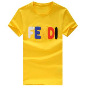2019. Summer Designer T Shirts Pour Hommes Tops Luxe Lettre Broderie T Shirt Homme Vêtements Pour Femmes T-shirt À Manches Courtes Pour Hommes