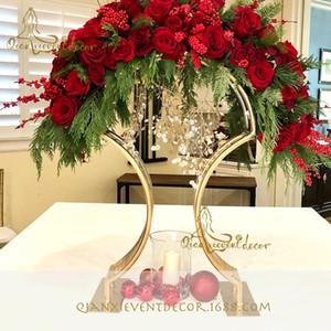 """La boda del metal Arch-32"""" Arco de la boda de los regalos Decor-Arco el soporte para la pieza central del arreglo floral telón de fondo de la boda Vector Declaración-Arco-Custom"""