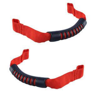 2 piezas de rollo manillar del asiento trasero Grab Handle fijado para el Jeep Wrangler