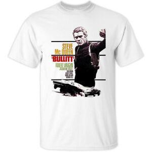 Bullit V1 Peter Yates Affiche du film 1968 T-shirt BLANC Toutes les tailles S 5XL