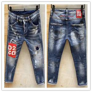 2020 nova marca de moda casual jeans europeus e americanos dos homens, lavagem de alta qualidade, moagem pura mão, otimização da qualidade LT9131