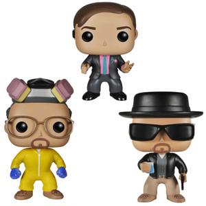 10CM Funko Pop Breaking Bad Heisenberg Saul Goodman Figurines Vinyle Collection Jouets Modèle avec la boîte pour les enfants Cadeaux d'anniversaire classiques