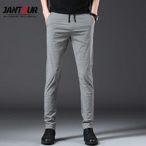 Jantour 2019 nouveaux Hommes Pantalons Droits Casual Hommes Vêtements 2019 Longs Pantalons Hommes Pantalons Hommes Doux Confortable Streetwear 28-38