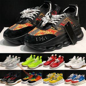 Italiano Cruz Chainer 2 capacitadores para los hombres de las mujeres zapatillas de deporte 2020 Cadenas blanca del diseñador impresión roja inferior grueso al aire libre Zapatos ocasionales del tamaño 36-45