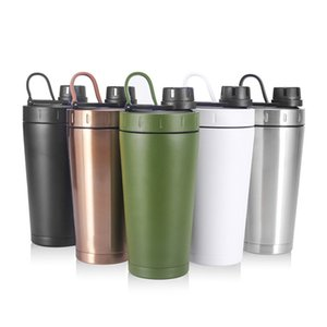 25oz Shake Cup Double-layer Stainless Steel Vacuum Shaking Cup 750ml Sports Protein Powder Shaking Bottle Mugs