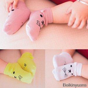 Algodón recién nacido calcetines del piso del bebé niños niñas lindo de la historieta animal del bebé calcetines para niños pequeños calcetines antideslizantes calcetines cortos barco