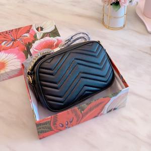 Marmont klassische Welle Leder camer Taschen Frauen Handtaschen Geldbeutel Schulter Mode Umhängetaschen Damen Totehandtasche