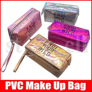 bolsas de maquillaje carta bolsa de cosméticos bolsa de holograma láser cosmético compone bolsas de gran capacidad de almacenamiento de lavado bolsa impermeable tolitery