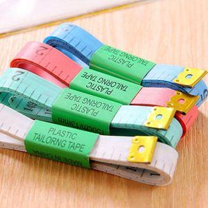 Corps de mesure Règle Couture sur mesure Ruban à mesurer souple plat couture Règle Rulers rétractable Portable Fournitures Livraison gratuite DHC418