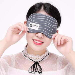 Creative Cotton Linen Shading Réduire la pression de sommeil Masque pour les yeux avec Ice Soft Pack respirante Hommes Femmes sommeil de protection Masque pour les yeux DH1056 T03