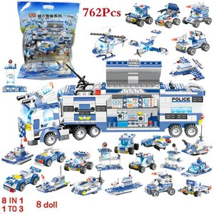 8 IN 1 Roboter-Flugzeug Auto City Police Building Blocks LegoINGLS SWAT Creator Bricks PLAYMOBIL® Lernspielzeug für Kinder