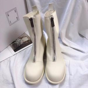Caliente diseñador de la venta informal Mediados de tacón mejores zapatos de las mujeres de alta calidad zapatilla de deporte de las botas de tobillo con cremallera botín Guidi