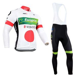 Новая команда EUROPCRA мужчины велоспорт Джерси нагрудник брюки набор быстрый сухой MTB Ropa Ciclismo велоспорт носить с длинным рукавом гоночный велосипед одежда Y062102