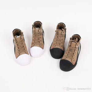 Kids Designer Shoes Boys Girls Plaid Ankler Zapatillas de correr Niños Antideslizante Lienzo Zapatos Casuales Zapatillas de Zapatillas de Zapatillas