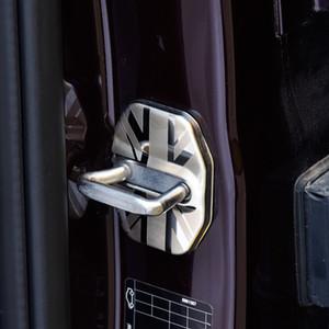 1 쌍 스테인레스 스틸 Antirust 자동차 도어 잠금 MINI COOPER 용 보호 버클 커버 F60 2017 인테리어 액세서리