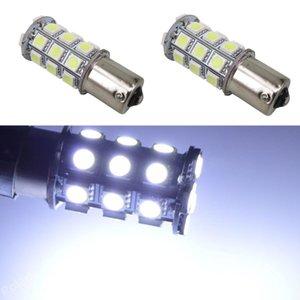 lampadine 4X 2019 Brake 1157 1156 12V auto lampadina LED freno dell'automobile 1156 Ba15s P21W 27SMD 27 SMD 5050 Attivare backup della parte finale del segnale chiaro Rosso Bianco