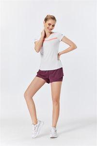 Raibaallu New Mode 2PCS Set Femmes Vêtements sexy Pantalons courts d'été + T-shirts fibres de polyester et spandex