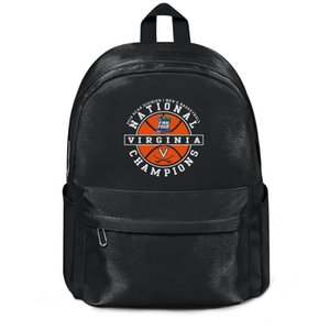 Virginia Cavaliers 2019 National Basketball Champions Homens NCAA Moda Sports reutilizável lã Ombro Backpack Cool Design Pattern Gym